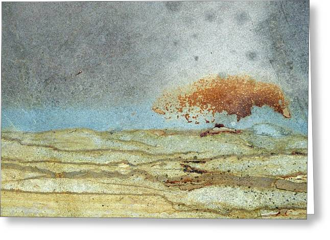 Rock Stain Abstract 1 Greeting Card