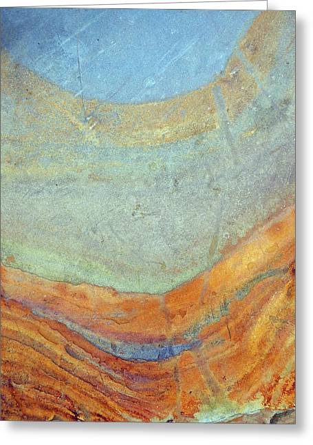 Rock Stain Abstract 7 Greeting Card