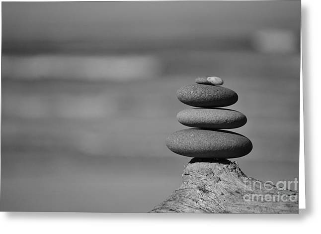 Greeting Card featuring the photograph Rock Zen 6 by Jeni Gray