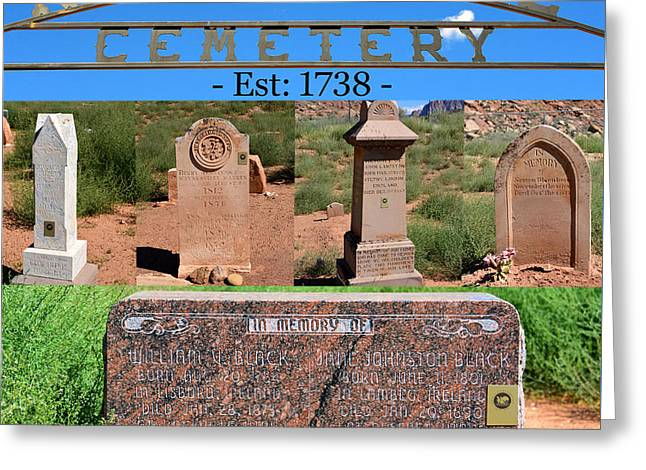 Rockville Utah Cemetery Work A Greeting Card