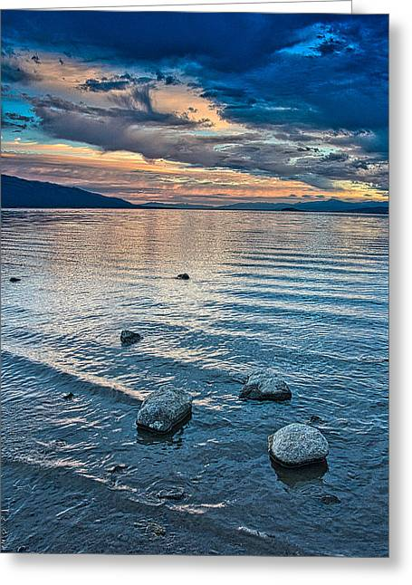 Rocky Lake Vista Greeting Card