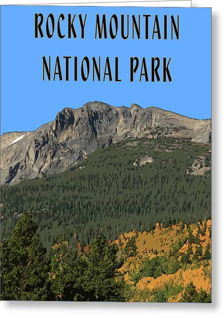 Rocky Mountain National Park Poster Greeting Card