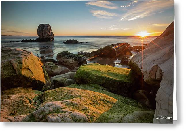 Rocky Pismo Sunset Greeting Card
