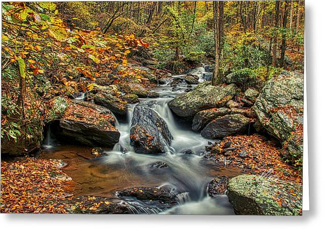 Greeting Card featuring the photograph Rocky Stream by Meta Gatschenberger