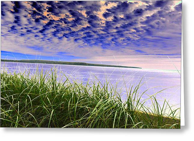 Rolling Blue Sky Over Lake Superior Greeting Card