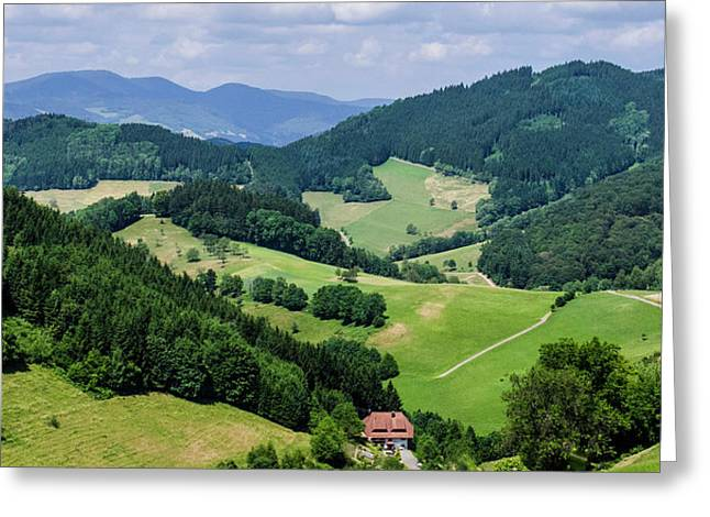 Rolling Hills Of The Black Forest Greeting Card