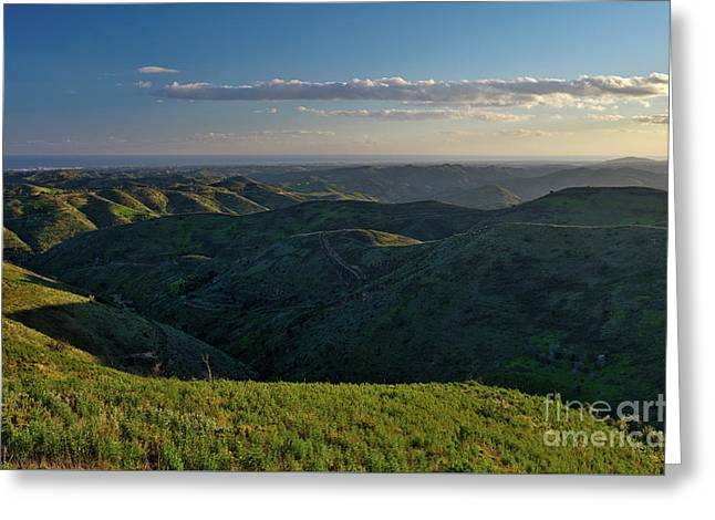 Rolling Mountain - Algarve Greeting Card