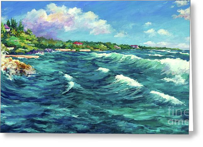 Rolling Waves At Prospect Reef Greeting Card