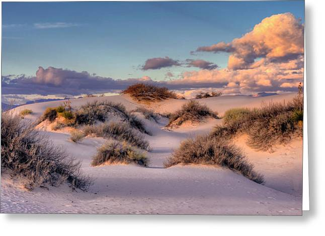 Rolling White Sands  Greeting Card