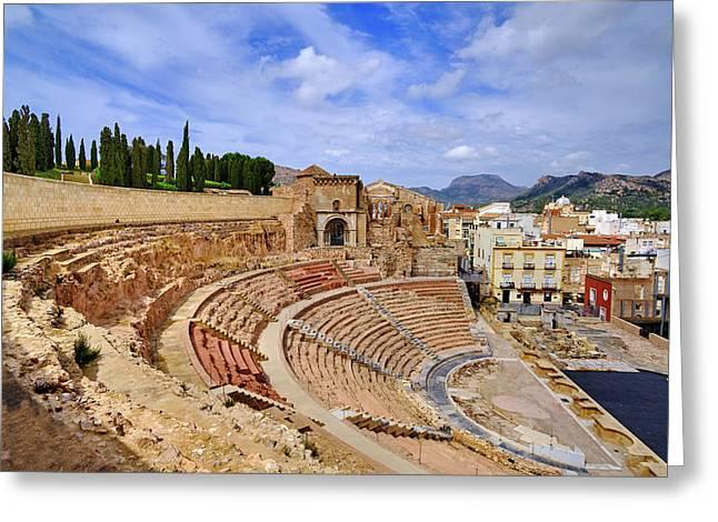 Roman Theatre, Cartagena. 5 Bc Greeting Card