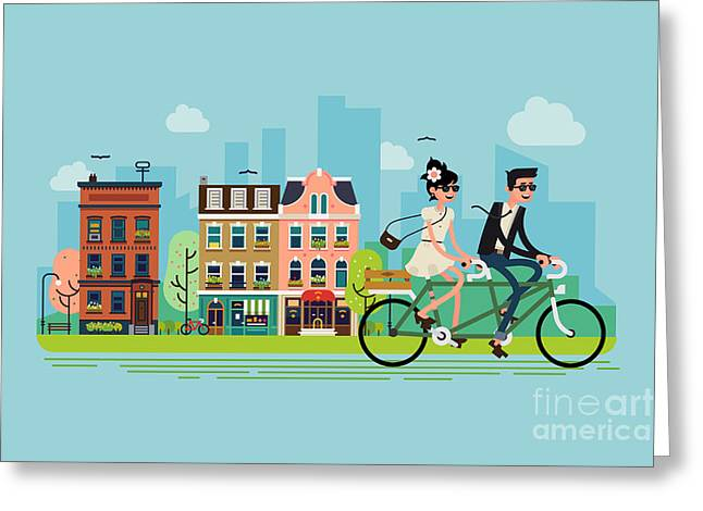 Romantic Vector Concept Illustration On Greeting Card by Mascha Tace