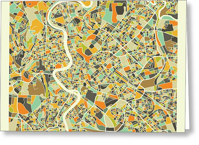 Rome Map 1 Greeting Card