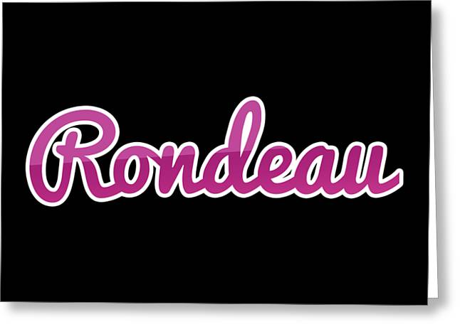 Rondeau #rondeau Greeting Card
