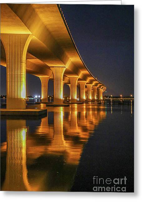 Roosevelt Bridge Portrait Greeting Card