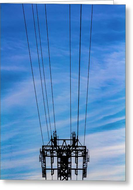 Roosevelt Island Tram Cables And Pylon Greeting Card