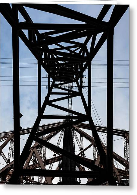 Roosevelt Island Tram Pylon Greeting Card