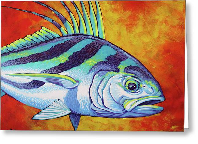 Rooster Fish 2 Greeting Card