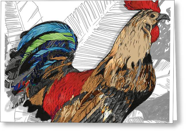 Rooster On Big Island Greeting Card