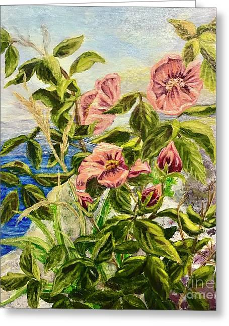 Rosa By The Sea Greeting Card