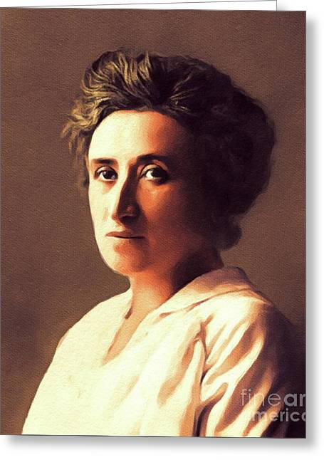 Rosa Luxemburg, Philosopher And Activist Greeting Card