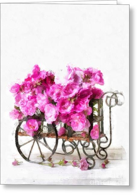 Rose Cart  Greeting Card