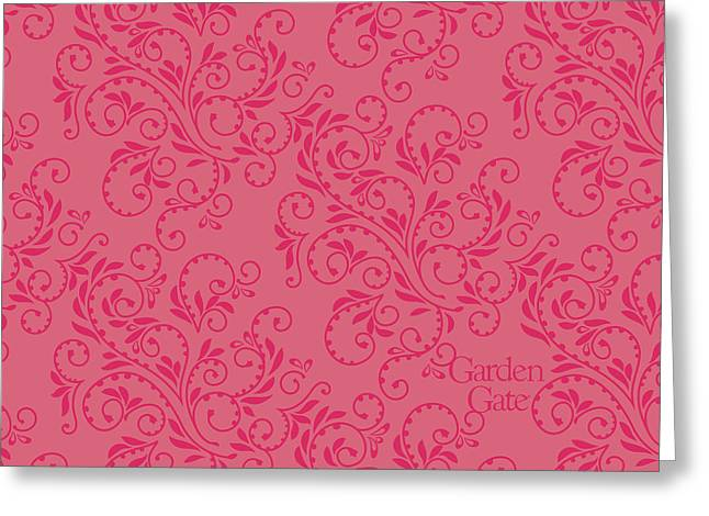 Rose Colored Fern Pattern Greeting Card