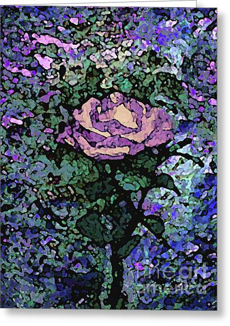 Rose Of Purple And Peach Greeting Card