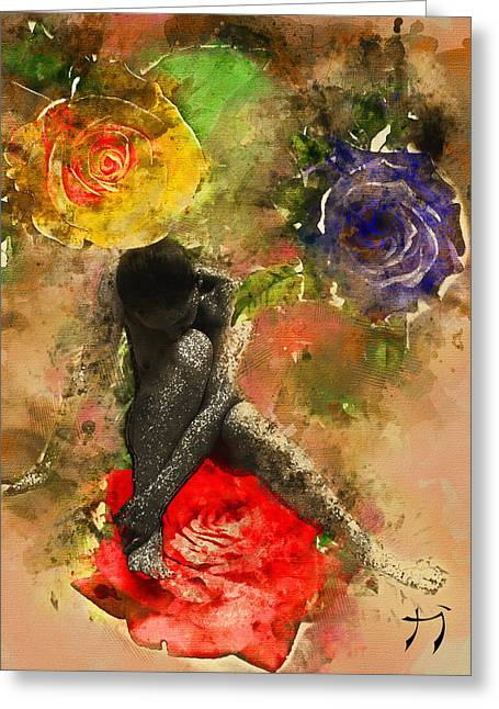 Rosebuds Greeting Card