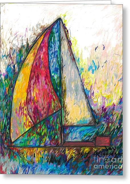 Rough Sailing Greeting Card