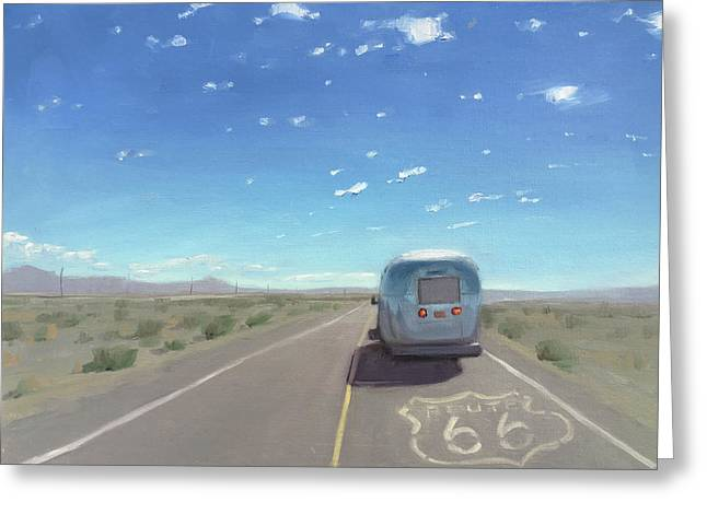 Route 66, Somewhere In California Greeting Card