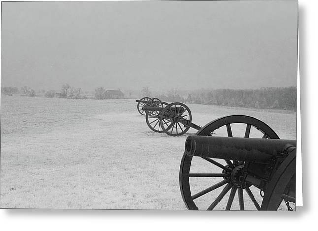 Row Of Cannon Greeting Card
