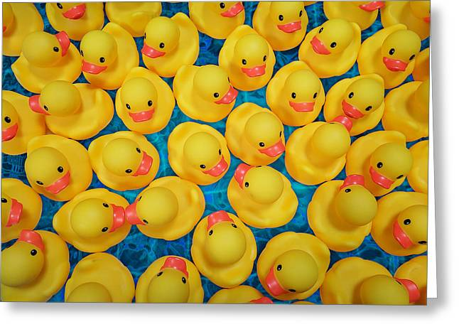 Rubber Duck Meet And Greet Greeting Card