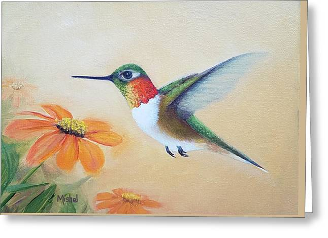 Rufous In Marigolds  Greeting Card