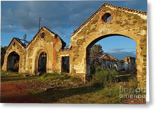 Ruins Of The Abandoned Mine Of Sao Domingos. Portugal Greeting Card