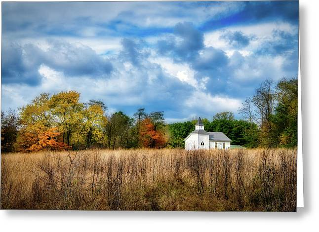 Rural Church Greeting Card