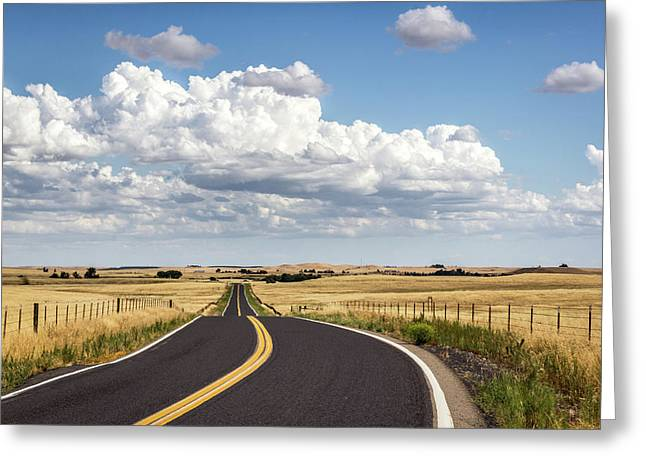 Rural Highway Greeting Card