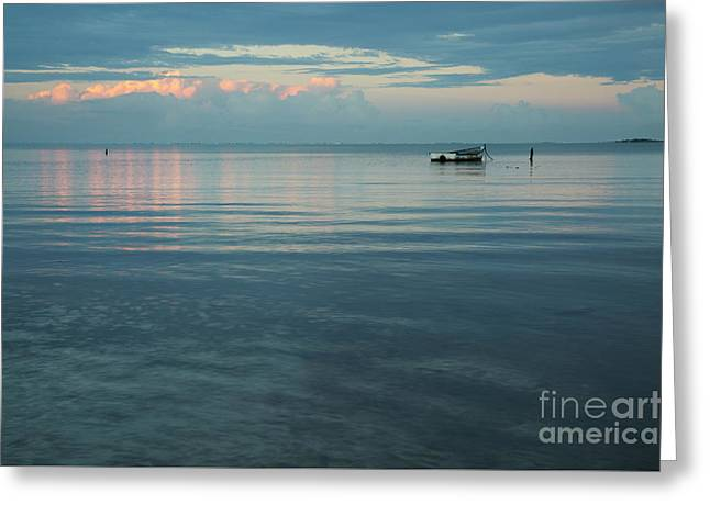 Greeting Card featuring the photograph Rustic Boat At Kaneohe Bay by Charmian Vistaunet