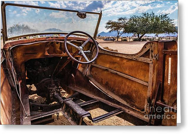 Rusty Car Leftovers Greeting Card