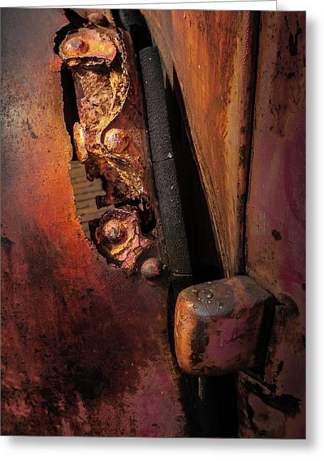 Rusty Hinge Greeting Card
