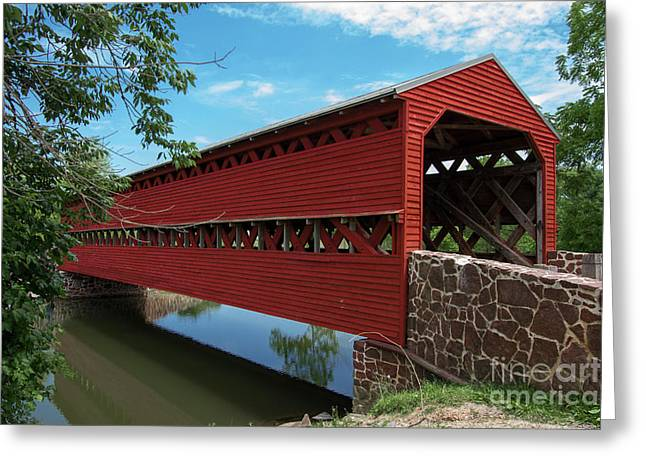 Sachs Covered Bridge Greeting Card