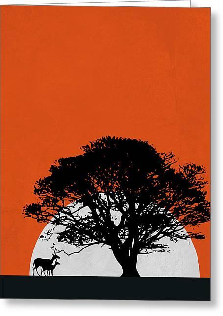 Safari Sunset Greeting Card