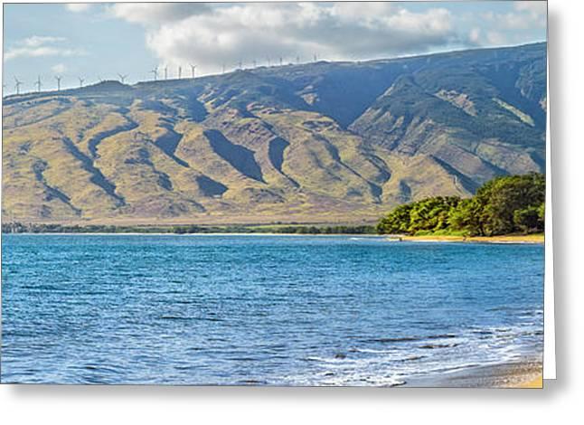 Sailboat On Sugar Beach, North Kihei Greeting Card