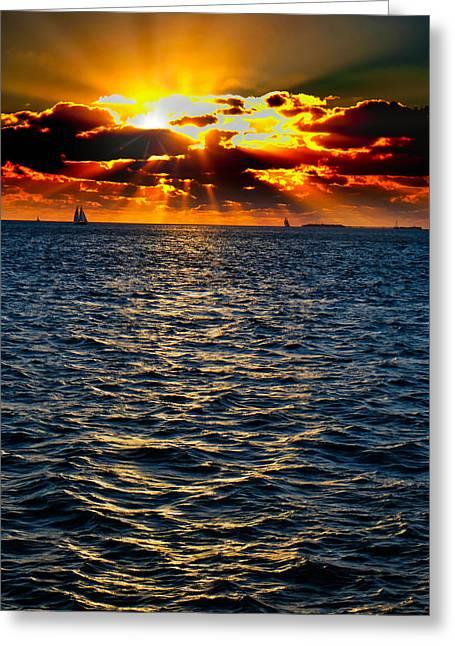 Sailboat Sunburst Greeting Card