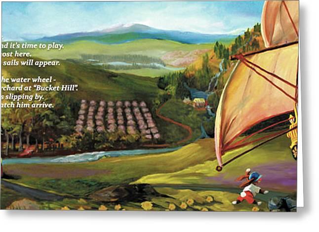 Sailbus Flight Home Greeting Card