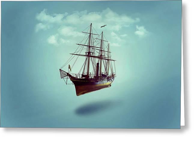 Sailed Away Greeting Card