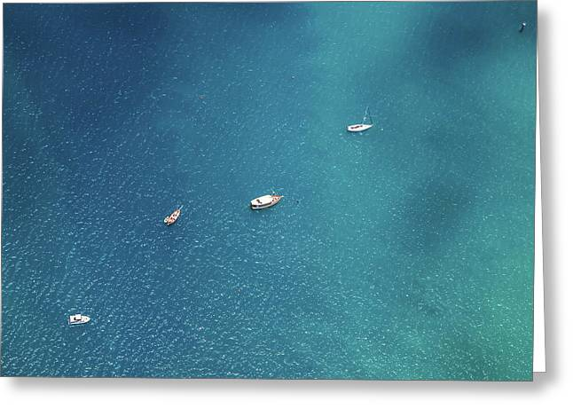 Sailing On The Blue Greeting Card