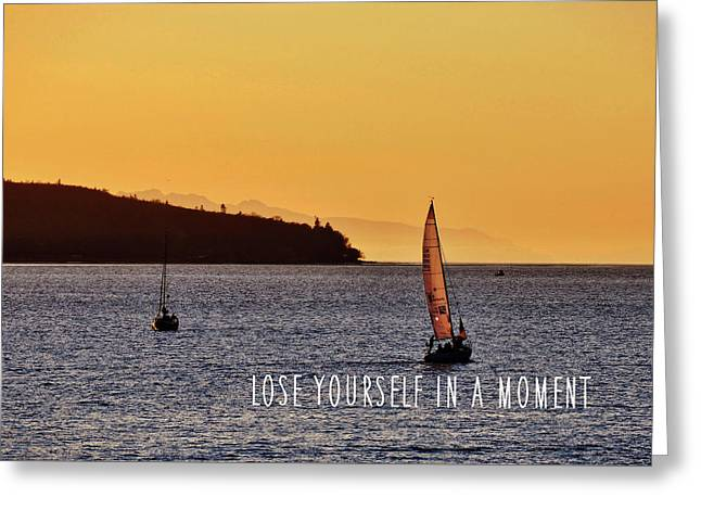 Sailing The English Bay Quote Greeting Card by JAMART Photography