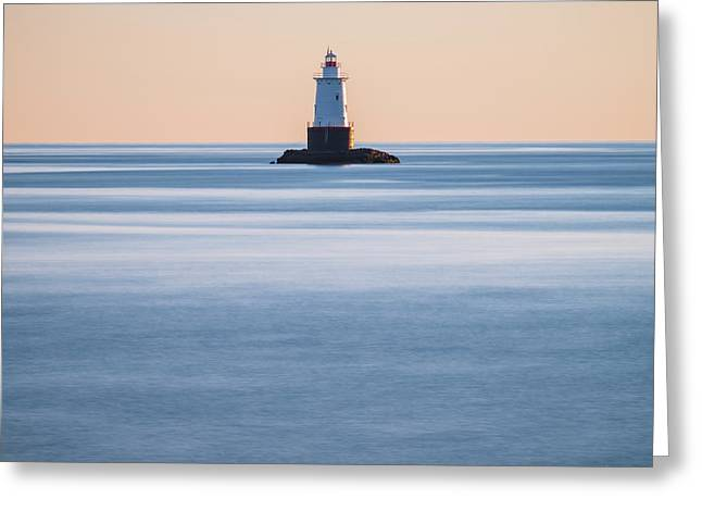 Greeting Card featuring the photograph Sakonnet Point Lighthouse Little Compton Ri Color by David Gordon