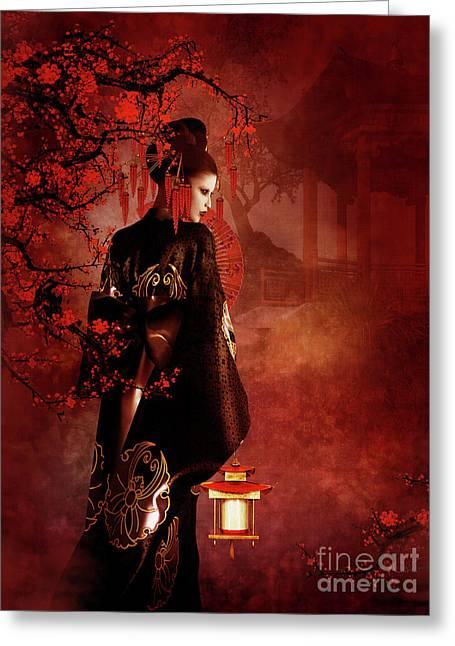 Sakura Red Greeting Card