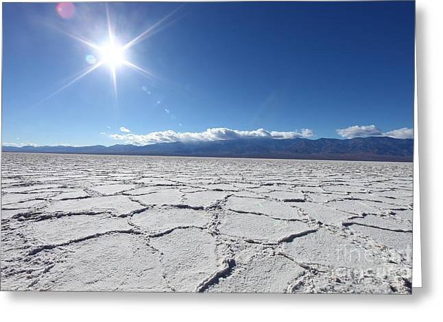 Salt Badwater Formations In Death Greeting Card